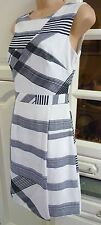 """TED BAKER """"Winslet"""" Black/Off White Check Print Dress Size 1 UK 8 NWT RRP £159"""