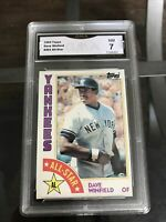Dave Winfield 1984 Topps #402 All-star GMA 7 Near Mint. New York Yankees
