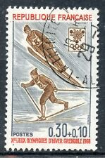 STAMP / TIMBRE FRANCE OBLITERE N° 1543  SPORT / JEUX OLYMPIQUES GRENOBLE