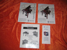 VISCOUNT DIGITAL PIANO SALES DEALER PROMOTIONAL PACKET W/ PRICES FROM 2004