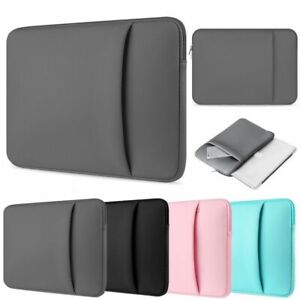 """DOUBLE POCKET Bag Sleeve Case Cover Pouch Fits HP 11.6"""" 12.5"""" 13.3"""" 14""""in Laptop"""