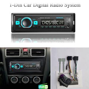 12V Car Radio 1 Din Kit Stereo Audio MP3 Player Support USB TF Bluetooth DAB FM