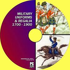 GREAT COLLECTION RARE VINTAGE MILITARY UNIFORM IMAGES ILLUSTRATIONS NEW PC-DVD