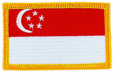 FLAG PATCH PATCHES singapore IRON ON EMBROIDERED SMALL