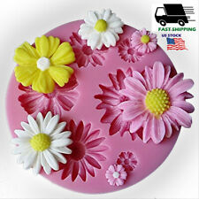 3D Flower Silicone Fondant Cake Decor Mold DIY Baking Tool Mould