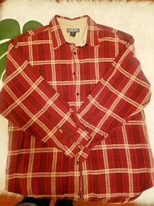 Vintage Structure Men's Size Large Plaid Shirt