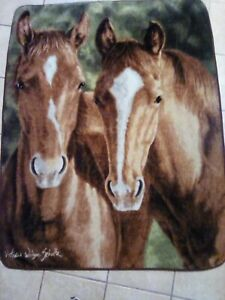 "Victoria Wilson-Schultz Equestrian Fur blanket wall -Northwest Company-60"" x 48"""