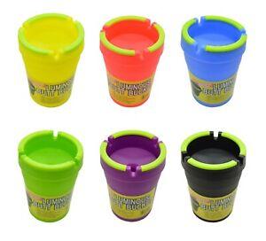"2 x Jumbo Luminous Butt Bucket ""Glow In Dark"" Cigarette Car Cup Ashtray Holder"