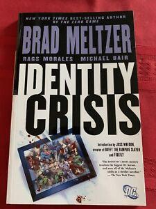 Identity Crisis!!! Meltzer Morales Bair Graphic Novel Trade Paperback Dc Comics