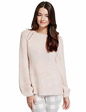 Marks and Spencer Women's No Pattern Chunky, Cable Knit Knit Jumpers & Cardigans