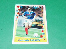PANINI FOOTBALL SUPERFOOT 1998-1999 CHRISTOPHE DUGARRY EQUIPE FRANCE OM