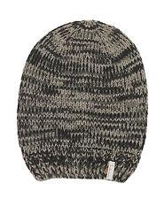 (P27) Grobstrick Mütze FREAKY HEADS Beanie Wintermütze Melange mit Logo Aufnäher