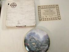 1st issue Chandler'S Cottage Thomas Kinkade Cottages of England Collector Plate
