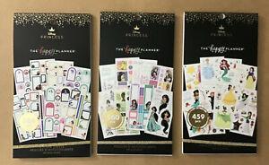 SET of 3 Happy Planner DISNEY PRINCESS Value Pack Sticker Books! Set of 3 Books!