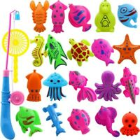 22Pcs/set Baby Kids Magnetic Fish Bath Shower Toys Game Rod Fishing Toddler Toy