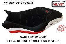 Ducati Monster 821 2018+ Tappezzeria Italia WHITE - RED Seat cover Anti slip