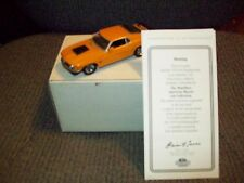 MATCHBOX 1970 FORD BOSS MUSTANG, MUSCLE CAR COLLECTION, 1:43 SCALE DIECAST, COA