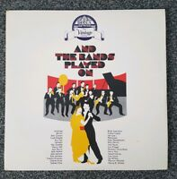 And The Bands Played On Vintage Jazz Vinyl lp record album 1977