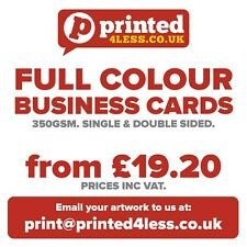 BUSINESS CARDS PRINTED FULL COLOUR 350GSM SINGLE DOUBLE SIDED FLYERS LEAFLETS