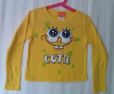 "Spongbob Squarepants Girls Shirt Long Sleeve Size L (4-5) 12 1/2"" X14 1/2"" NEW"