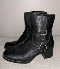 Harley Davidson black high heel leather ladies motorcycle boots 11 m 43 uk 9