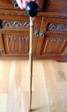 BAMBOO WALKING STICK CANE BLACK ROUND KNOB TOP HANDLE STYLISH WOODEN CANE STICK