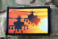 AH-64 Apache Attack Helicopter Morale Patch Tactical Military Army Badge Hook