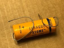 Nos Vintage Sprague Atom 16 uf 250v Capacitor Tva-1507 Axial Tube Amp Cap 1956
