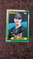 1990 Topps Dave Johnson #416 - Baltimore Orioles - Autographed!