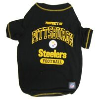 Pittsburgh Steelers Officially Licensed NFL Dog Pet Tee Shirt, Black Sizes XS-XL