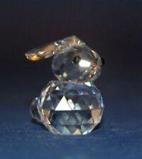 Swarovski Cut Silver Crystal Mini Rabbit Animal Ornament