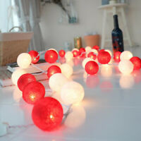 3M*20 Colorful LED Cotton Ball String Fairy Light Luminous Christmas Party Decor