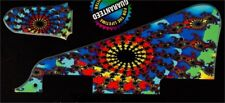 NEW Pickguard + truss rod cover Les Paul - DESIGN Psyché - pour toutes LP