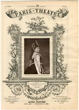 Quinet Alexandre, Paris-Théâtre, Pauline Lauters (1834-1908), chanteuse Vintage