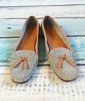 Cole Haan 6 B women's Mocassins Shoes Blue Suede Leather Loafers