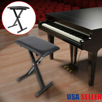 Portable Piano Keyboard Music Folding Adjustable Padded Chair Seat Bench NEW