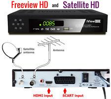 UK FULL HD COMBO Freeview HD & Satellite HD Receiver HD RECORDER TV Set Top Box