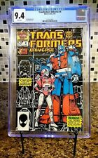 Transformers Universe #4 CGC 9.4 NM 1987 WHITE Pages Ultra Magnus & Arcee RARE!