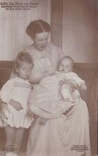 Ansichtskarte Gräfin Ina Maria von Ruppin Gemahlin Oscar von Preußen mit Söhnen