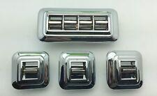 1958-1971 POWER WINDOW SWITCH ROUND CORNERS COMPLETE SET PW4432791 & PW4432790