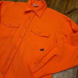Vintage Duxback Hunters Orange XL Long Sleeve Button Shirt Hunting