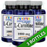 L-Carnitine 1000mg (Free Form) 3X200 capsules by Vitamins Because