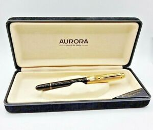 MINT FOUNTAIN PEN AURORA 88 NEW SERIES WITH BOX , CARTRIDGES AND BOTTLE OF INK