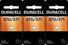370/371 Batteries Replacement Watch Battery Equivalent Duracell x 3
