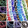 50pcs 8mm Round Millefiori Glass Charms Loose Spacer Beads Jewelry Findings