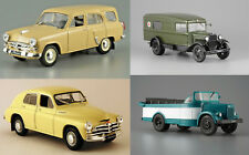 Rare Collection of 16 Soviet Cars USSR 20th Century 1/43 Scale Collectible Model