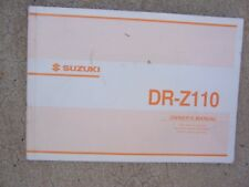 2002 Suzuki Motorcycle DR-Z110 Owner Manual Maintenance Adjustment Youth   SS