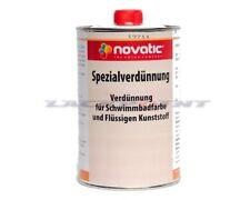 1 Liter Novatic Spezialverdünnung für Schwimmbadfarbe Poolfarbe Lackpoint !