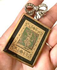 Rare Broche Ancienne Argent Strass Tableau Antique Georgian Silver Paste Brooch