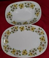 Noritake 6730 Marguerite Serving Bowl And Plate.
